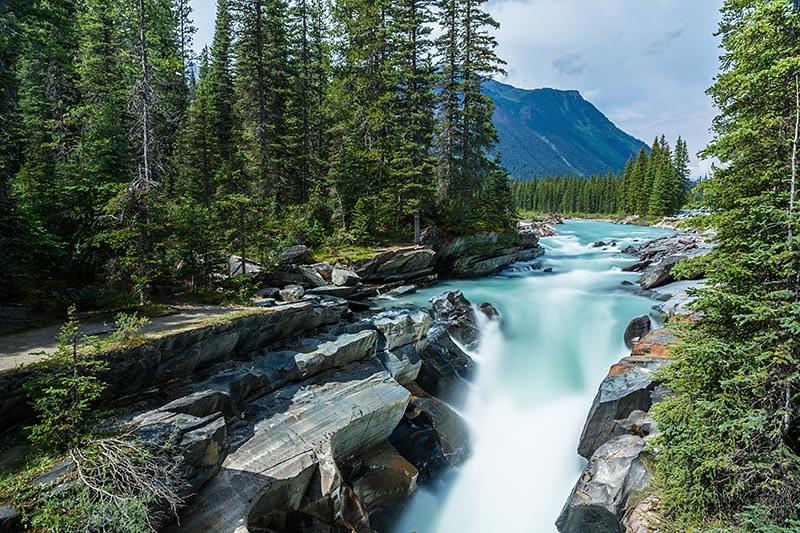 Numa Falls in Kootenay National Park, BC Rocky Mountains, BC, British Columbia.