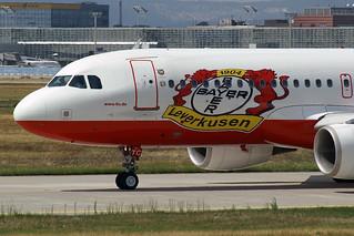 "LTU - Lufttransport-Unternehmen Airbus A320-214 D-ALTC Special ""Bayer 04 Leverkusen"" livery"