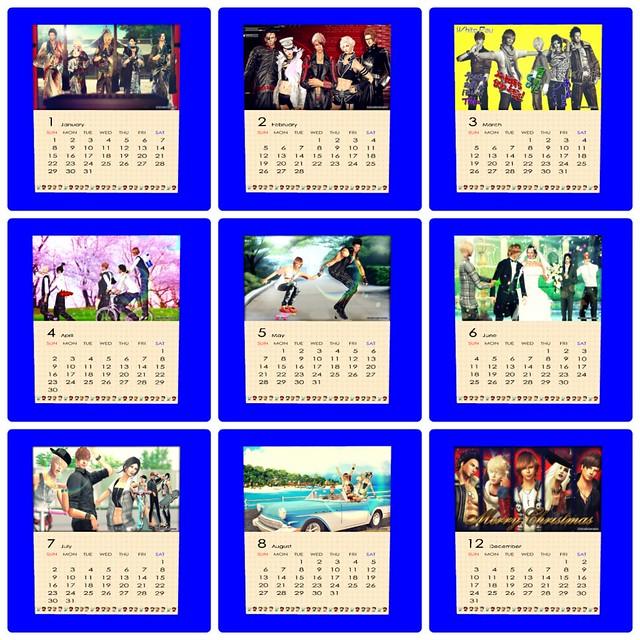 2017 Calendar List