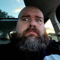 Damn! I am looking grey today! #gay #gaybear #beard #beardbear #beardporn #gaybeard #tiredoldqueen #introvert #dogdad #fatandfabulous #gaydallas #gaycarrolltontx