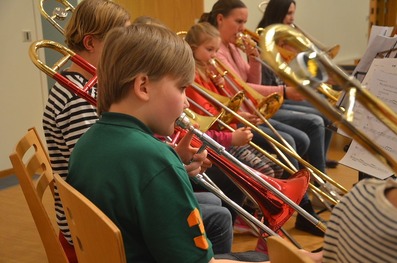 Unga trombonister