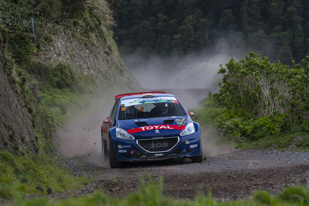 06 LOPEZ Jose Maria HERNANDEZ Borja Peugeot 208 T16 Action during the 2017 European Rally Championship ERC Azores rally,  from March 30  to April 1, at Ponta Delgada Portugal - Photo Gregory Lenormand / DPPI