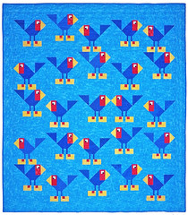 Bird Watching on the Kaw Custom Quilt by Whimzie Quiltz