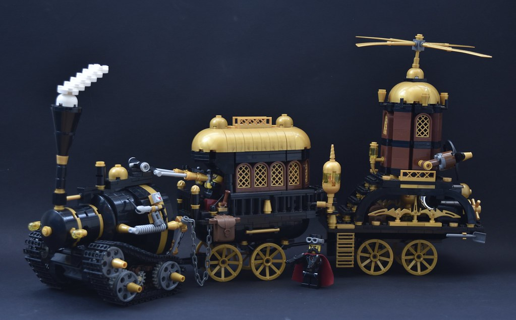 steampunk safari (custom built Lego model)