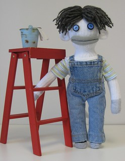 Sock Monkey JAKE - The Happy Handyman