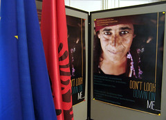 "Exhibition ""Don't look down on me"" by Artan Korenica at the EU Info Centre in Tirana"