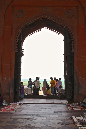 looking out through looking out through Buland Darwaza