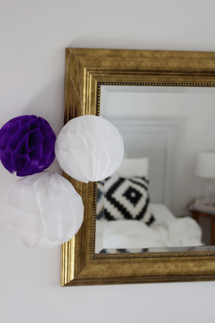 honeycomb pompom decoration diy