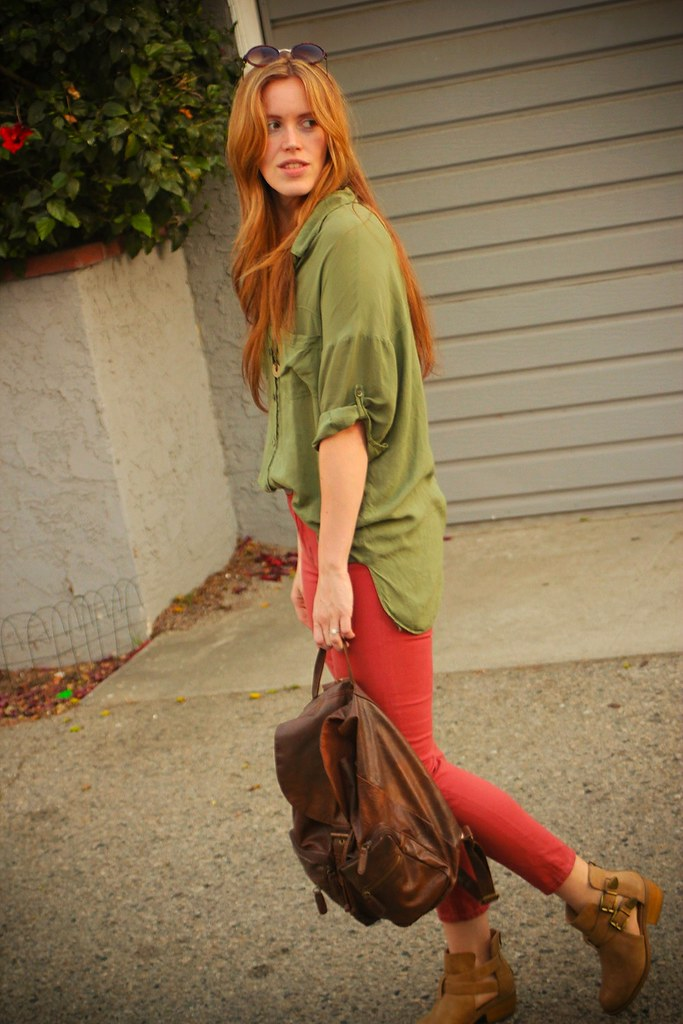 jennifer beile seeking style blog penh lenh jewelry sex trafficking ootd outfit of the day style blogger fashion blogger color blocking spring fashion colorful style instagram style pinterest style facebook style twitter los angeles actress christmas movie dean cain lifetime christmas movie los angeles background work hangover bronchitis urban outfitters crossroads trading co claires fashion backpack buffalo exchange nude booties salmon pants cropped ankle pants brandy melville shirt