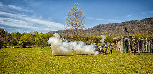 Cannon Fire at Wilderness Road
