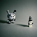 Lego Pierrot Senses An Eerie Presence Behind Him (Dunny Uamou) by Simon & His Camera by Simon & His Camera