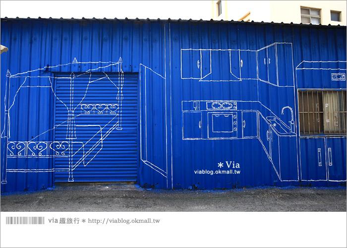 【彰化景點推薦】乳牛彩繪村(福寶村)~數百頭彩色小牛+夢幻藍晒圖的彩色村35