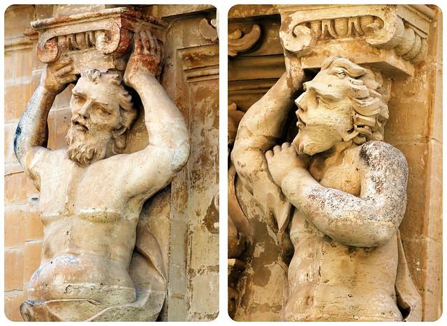 Statues in Mdina Malta