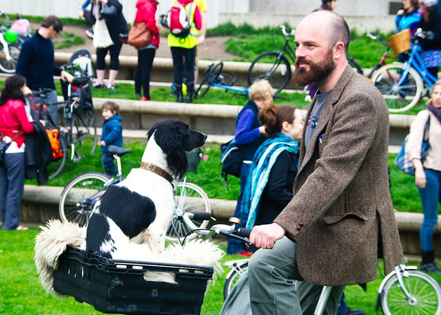 Pedal On Parliament:  Dog Section