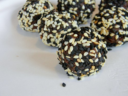 Chocolate - Orange Sesame Truffles