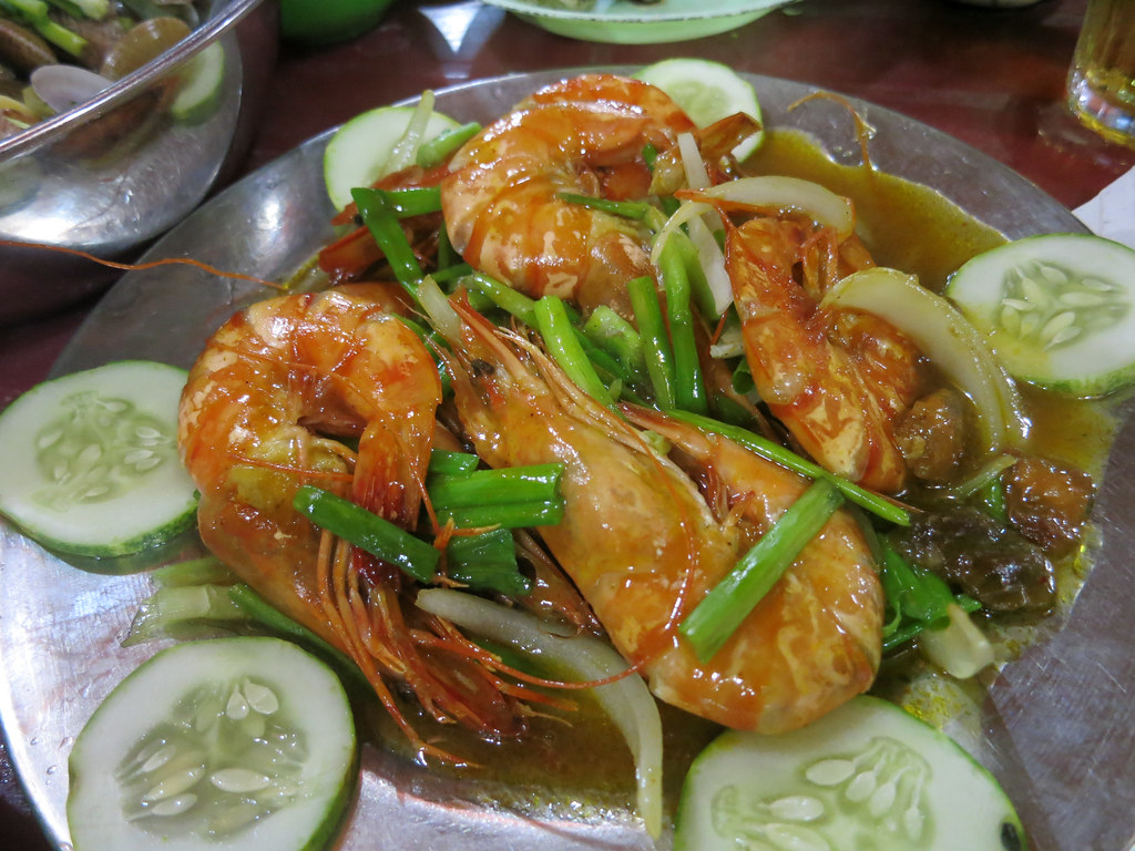 Prawns in sweet and tangy sauce