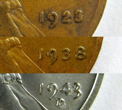 Lincoln Cent date changes
