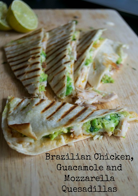 quesadillas with guacamole brazilian chicken and mozzarella 1