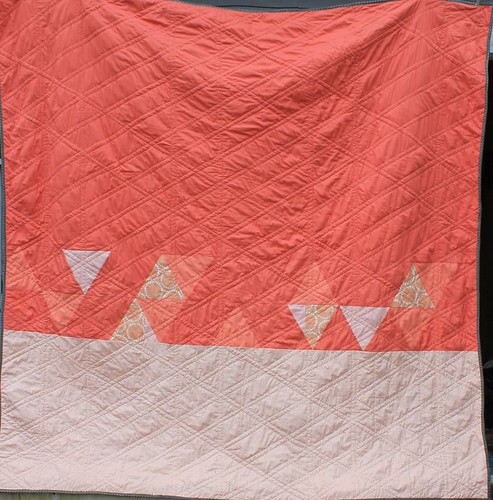 Coral Twelve Sisters Triangle Quilt