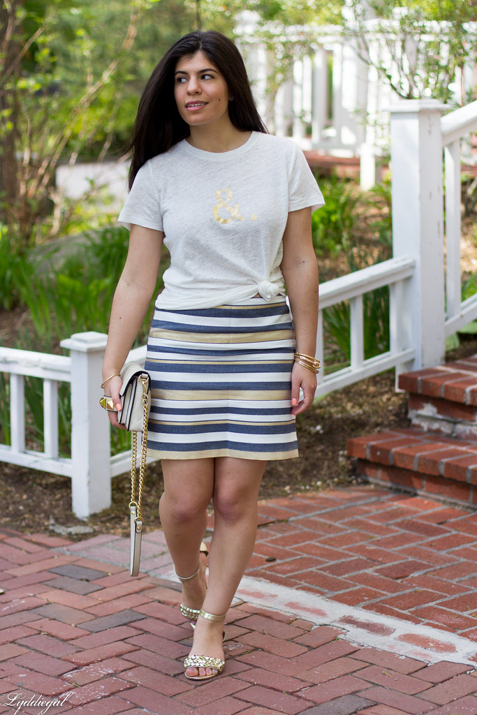 ampersand tee, striped skirt-1.jpg