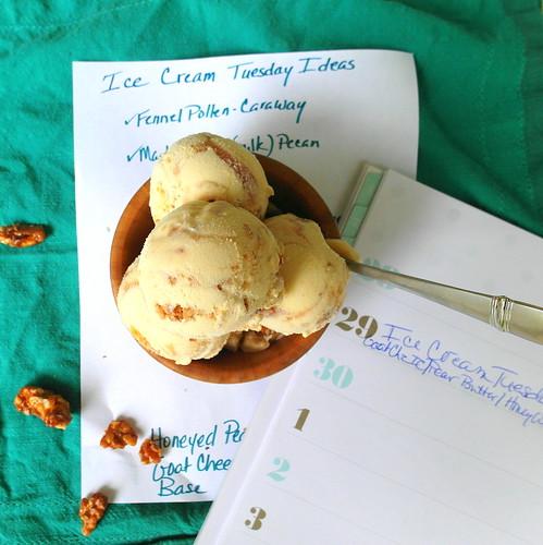 Honeyed Pear and Walnut Ice Cream