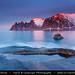 Norway - Senja island - Oskornan mountains - Devil's Jaw at Sunset by © Lucie Debelkova / www.luciedebelkova.com