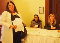Registration table at the Business Meeting