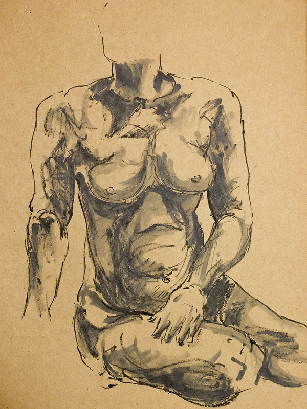 Life Drawing - Harcourt House - May 2014-5