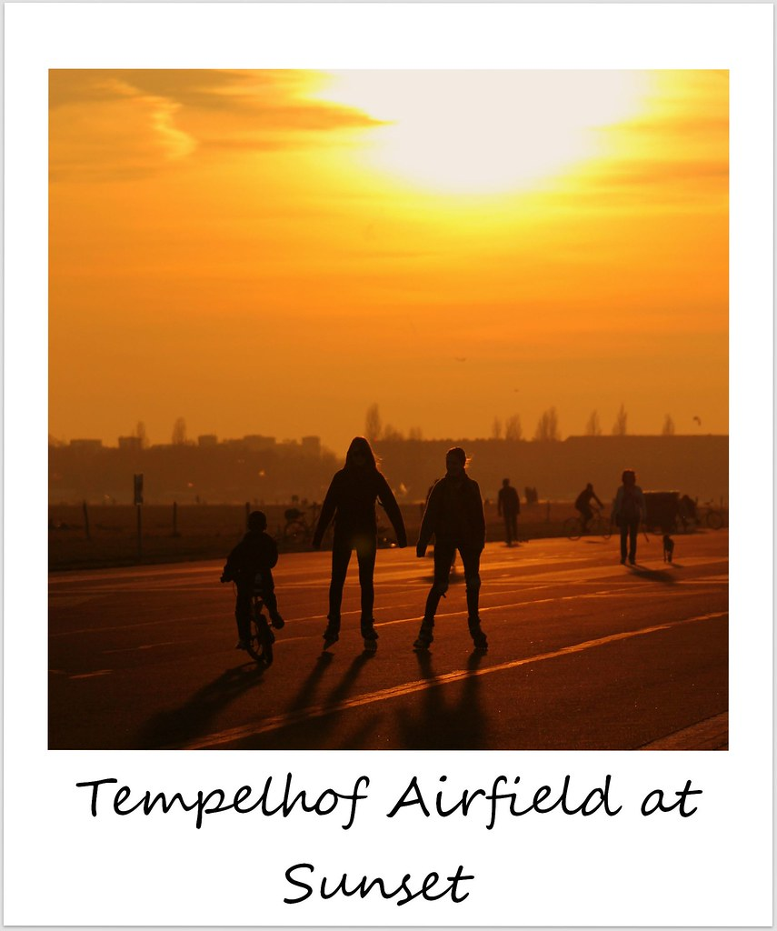polaroid of the week germany berlin tempelhof sunset