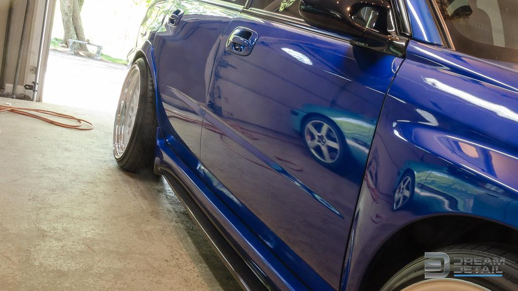 Subaru Sti With Viking Shield And Blue Xilion