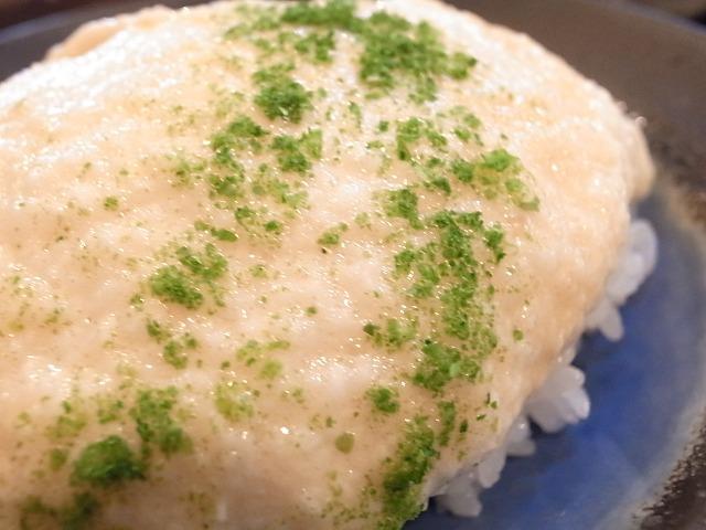 <p>山芋をご飯にかけて・・・</p>