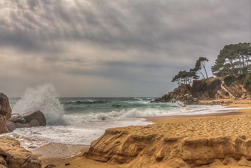 costa mar catalonia hdr costabrava cels 2014 març platges santantonidecalonge onades
