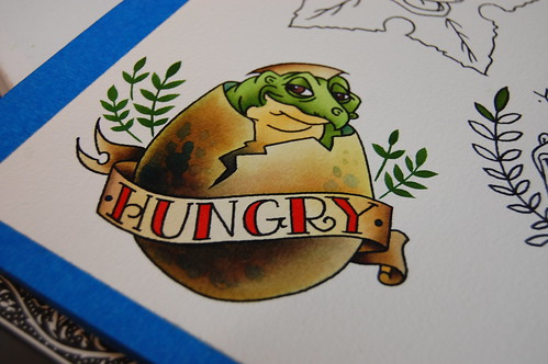 Hungry - Land Before Time Tattoo Flash