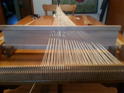 warping the loom