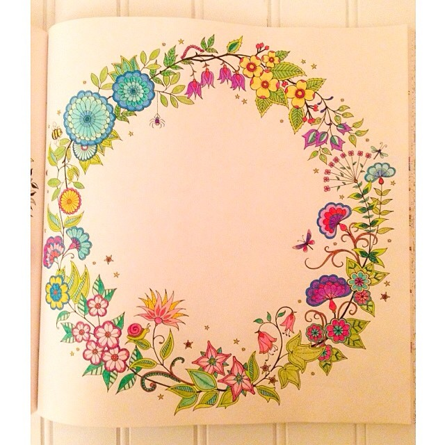 Finished A Page From The Secret Garden Coloring Book