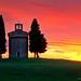 Vitaleta Chapel Flaming Sunset by Panorama Paul