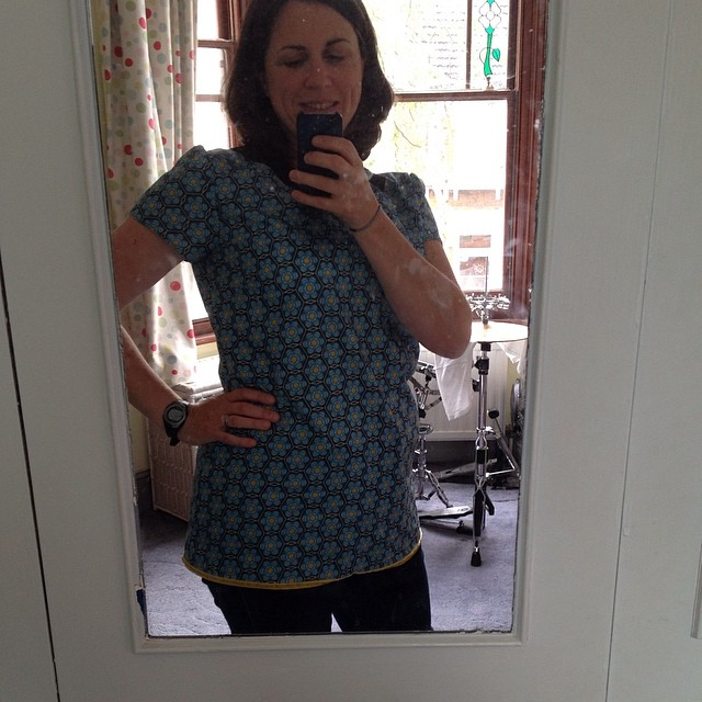 ...and it's very hard to find a decent full length mirror in our house #top #sewing #handmade