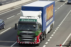 Volvo FM 6x2 Tractor with 3 Axle Box Trailer - PX60 CWE - H4627 - Merridith Laura - Eddie Stobart - M1 J10 Luton - Steven Gray - IMG_5945