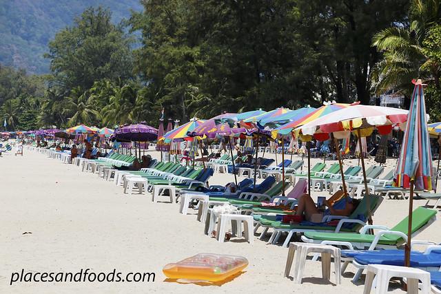 phuket patong beach umbrellas