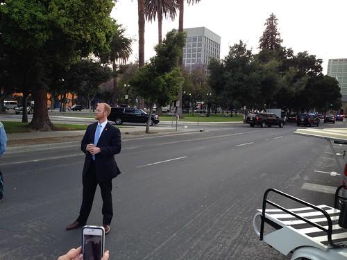 KXL protest, San Jose IMG_2518 The President's motorcade