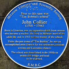 Photo of John Collier blue plaque