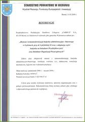 Referecje ze Starostwa Powiatowego w Bieruniu 2008r.