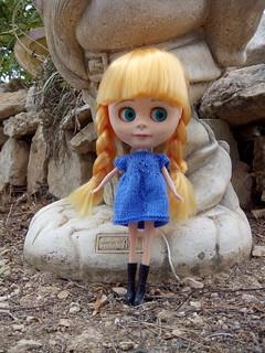 Laia y su vestido azul