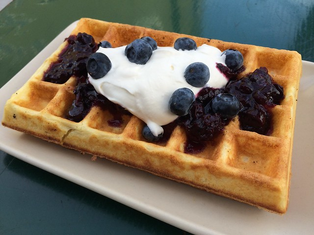 Blueberries and cream waffle - Lt. Waffle