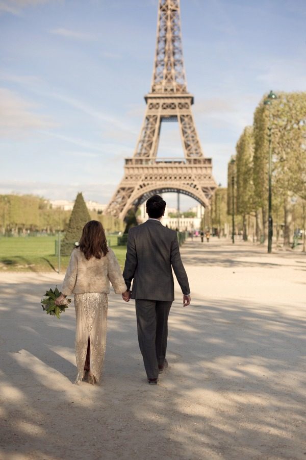 Eiffel Tower Hello Framboise Wedding by Juliane Berry