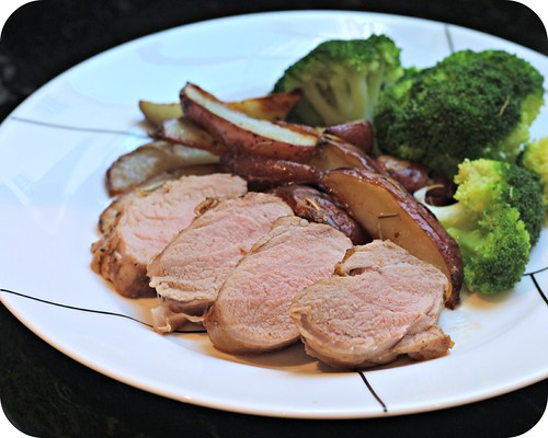Apricot Balsamic Glazed Pork Tenderloin