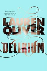 Delirium by Lauren Oliver book cover.