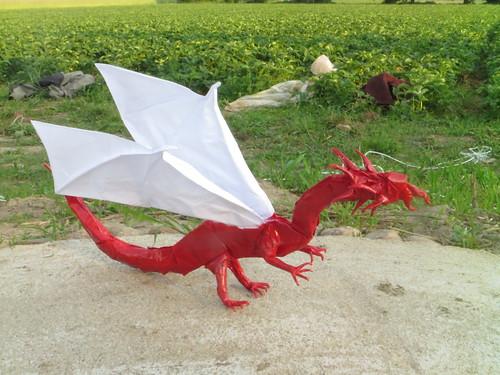 Origami Flying Kabutomushi (Shuki Kato) Diagrams | 375x500
