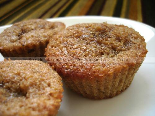 Muffins de pera para as crianças