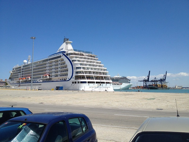 Cadiz port is almost next to the train station